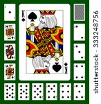 playing cards of spades suit... | Shutterstock .eps vector #333248756