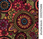 seamless vintage pattern with... | Shutterstock .eps vector #333255686