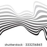 mobious optical art wave vector ... | Shutterstock . vector #333256865