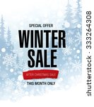 winter sale poster | Shutterstock .eps vector #333264308