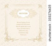 vector decorative frame.... | Shutterstock .eps vector #333276635