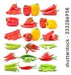 hot chili pepper on white... | Shutterstock . vector #333286958