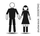 flat man and female figure flat ... | Shutterstock .eps vector #333287042