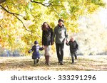 portrait of family with... | Shutterstock . vector #333291296