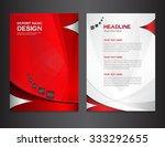 red annual report design vector ...   Shutterstock .eps vector #333292655
