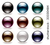collection of nine round icons... | Shutterstock . vector #33330484