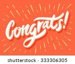 congrats  congratulations card. | Shutterstock .eps vector #333306305