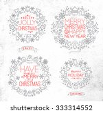 christmas decorative symbols... | Shutterstock .eps vector #333314552