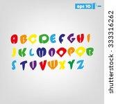 alphabet | Shutterstock .eps vector #333316262