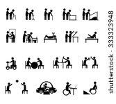 medical rehabilitation activity ... | Shutterstock .eps vector #333323948