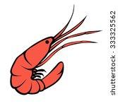 shrimp   prawn silhouette logo. ... | Shutterstock .eps vector #333325562