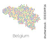 a map of the country of belgium | Shutterstock .eps vector #333334916