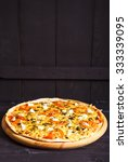 greek pizza with olives ... | Shutterstock . vector #333339095