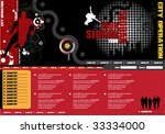 website template | Shutterstock .eps vector #33334000