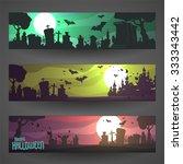 set of customizable halloween...   Shutterstock .eps vector #333343442