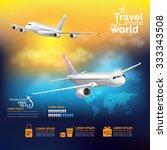 airline vector concept travel...   Shutterstock .eps vector #333343508