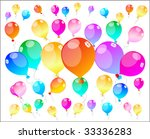 colour holiday balloons  ... | Shutterstock .eps vector #33336283