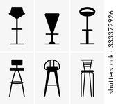 bar chairs | Shutterstock .eps vector #333372926