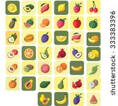 fruits icon set | Shutterstock .eps vector #333383396
