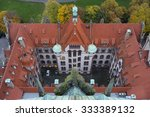 Stock photo aerial view of hannover new city hall from observation platform 333389132