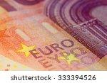 Ten Euro Banknote In A Macro...
