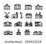 house icons set. collection... | Shutterstock .eps vector #333412118