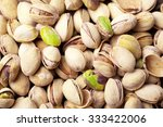 pistachios fruit background | Shutterstock . vector #333422006