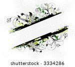abstract grunge floral frame ... | Shutterstock .eps vector #3334286