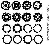 hand drawn funky gears and cogs ... | Shutterstock .eps vector #333429512