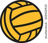 water polo ball in two colors | Shutterstock .eps vector #333433925