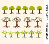 vector set of simple tree icons | Shutterstock .eps vector #333435866