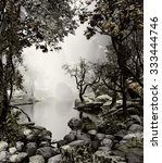3d landscape illustration of a... | Shutterstock . vector #333444746