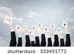 group of business people... | Shutterstock . vector #333451772