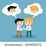 business etiquette forbids show ... | Shutterstock .eps vector #333455672