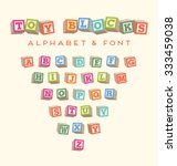 Toy Blocks Font Typeface For...