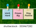 word quotes of work hard  dream ... | Shutterstock . vector #333467282