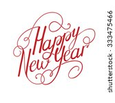 happy new year vintage... | Shutterstock .eps vector #333475466