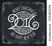 merry christmas hand lettering... | Shutterstock .eps vector #333483296