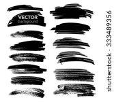 big black textured strokes set... | Shutterstock .eps vector #333489356