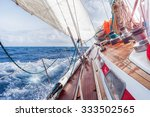 Sail Boat Navigating On The...