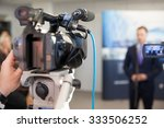 news conference. spokesman. | Shutterstock . vector #333506252