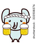 animal series of waiter waitress | Shutterstock . vector #333508376