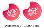 new arrival stickers | Shutterstock .eps vector #333546488