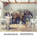 the elephant calm in a... | Shutterstock . vector #333550922