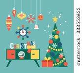 modern creative christmas... | Shutterstock .eps vector #333553622