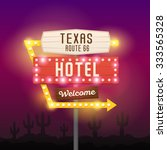 vector retro sign pointer ... | Shutterstock .eps vector #333565328
