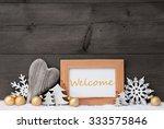 golden christmas decoration on...   Shutterstock . vector #333575846