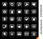 icon set 1   browser | Shutterstock .eps vector #33358330