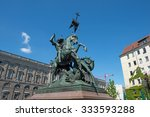 saint george fighting the... | Shutterstock . vector #333593288