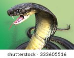 Close Up Of 3d King Cobra The...